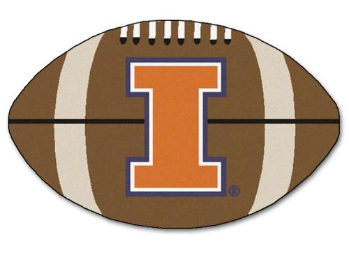 Illinois Fighting Illini Football Mat 22x35 - Special Order