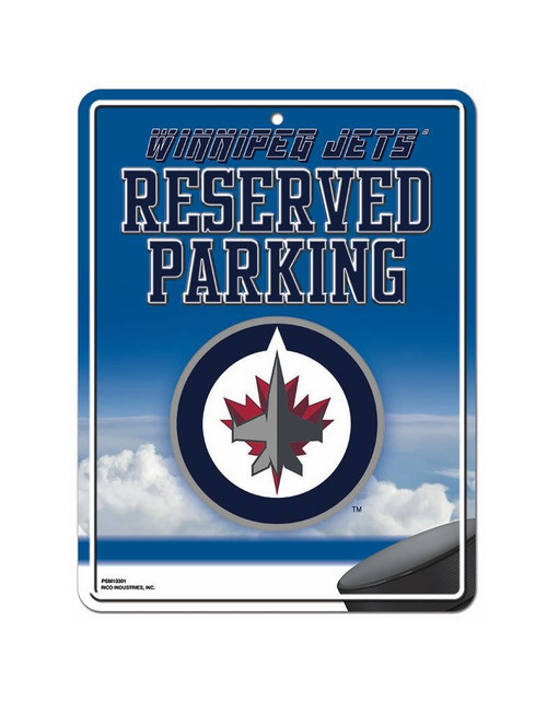Winnipeg Jets Sign Metal Parking - Special Order