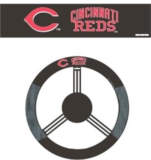 Cincinnati Reds Steering Wheel Cover Mesh Style