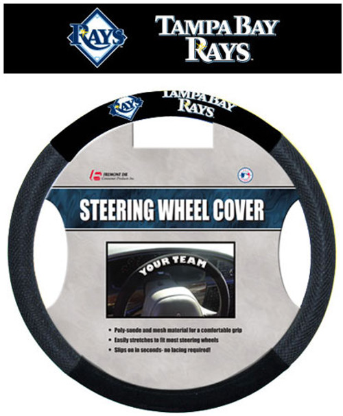 Tampa Bay Rays Steering Wheel Cover Mesh Style CO