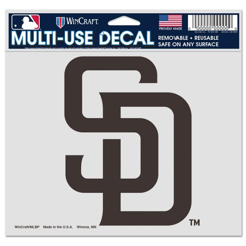 San Diego Padres Decal 5x6 Ultra Color - Special Order