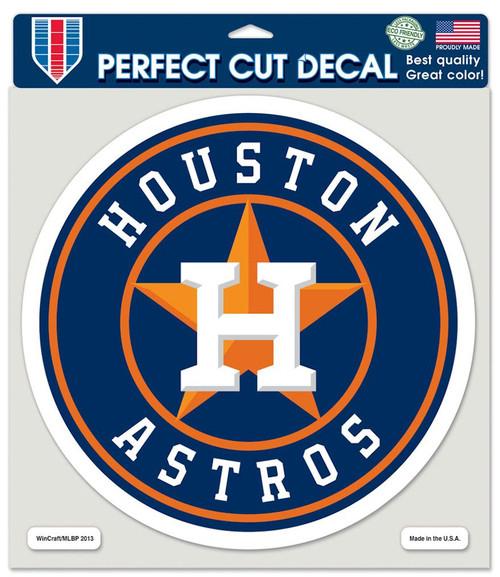 Houston Astros Decal 8x8 Die Cut Color