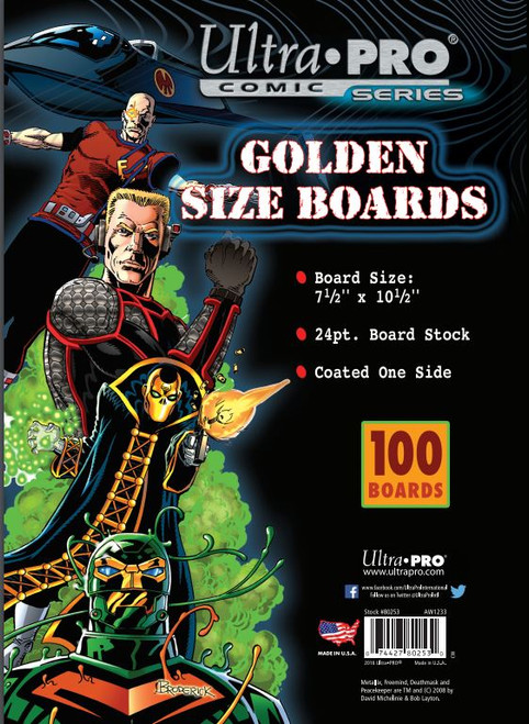 "Boards - Golden 7 1/2"" x 10 1/2"" (100 per pack)"