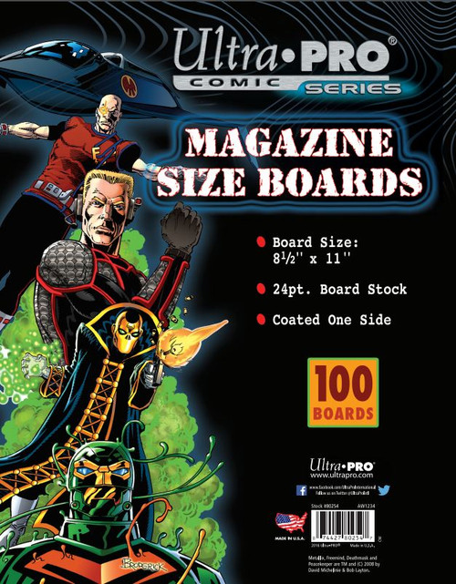 Boards - Magazine 8 1/2 x 11 (100 per pack)