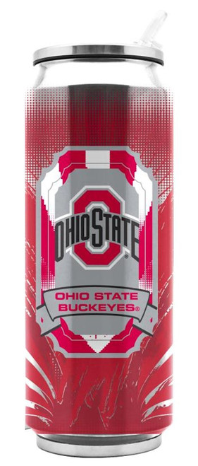 Ohio State Buckeyes Stainless Steel Thermo Can - 16.9 ounces