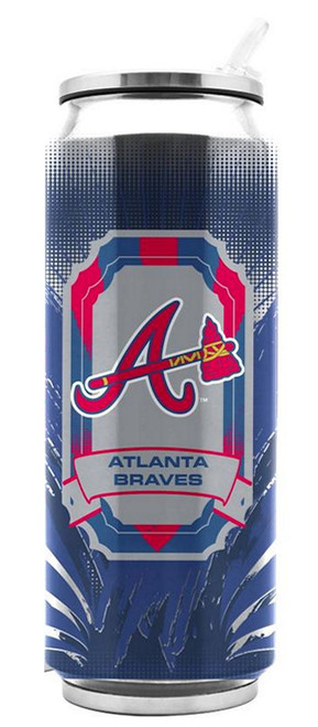 Atlanta Braves Stainless Steel Thermo Can - 16.9 ounces - Special Order