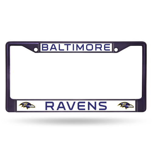 Baltimore Ravens License Plate Frame Metal Purple