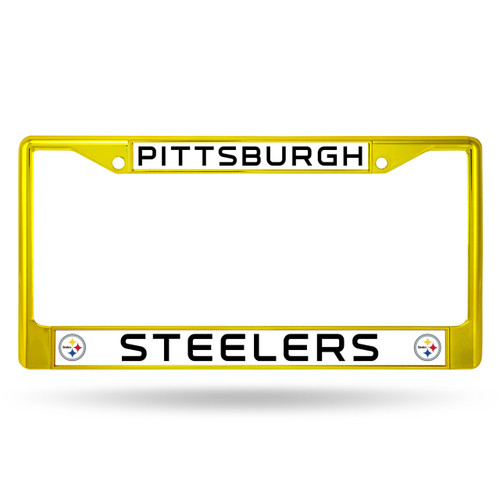 Pittsburgh Steelers License Plate Frame Metal Yellow