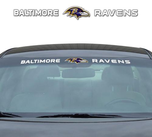 Baltimore Ravens Decal 35x4 Windshield