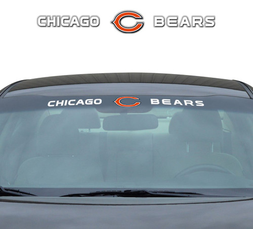 Chicago Bears Decal 35x4 Windshield
