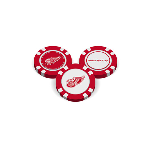 Detroit Red Wings Golf Chip with Marker - Bulk