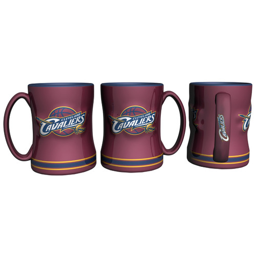 Cleveland Cavaliers Coffee Mug - 14oz Sculpted Relief