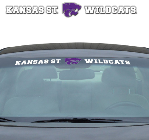 Kansas State Wildcats Decal 35x4 Windshield - Special Order
