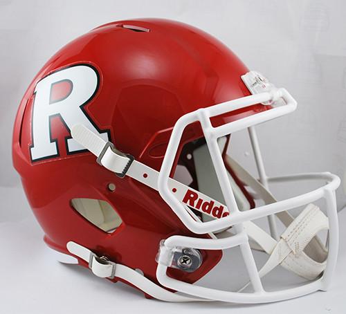 Rutgers Scarlet Knights Deluxe Replica Speed Helmet - Special Order