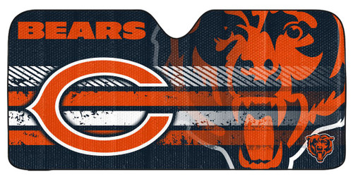 "Chicago Bears Auto Sun Shade - 59""x27"""