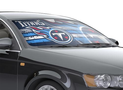 """Tennessee Titans Auto Sun Shade - 59""""x27"""""""