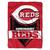 Cincinnati Reds Blanket 60x80 Raschel Home Plate Design - Special Order