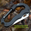 1 NEW TACTICAL 5-IN-1 BLACK MULTI-FUNCTION CARABINER TOOL