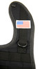 1 NEW TACTICAL BLACK BABY BIB WITH AMERICAN FLAG PATCH