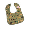 1 NEW TACTICAL DIGITAL GREEN CAMO BABY BIB WITH AMERICAN FLAG PATCH