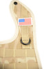 1 NEW TACTICAL DESERT CAMO BABY BIB WITH AMERICAN FLAG PATCH
