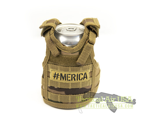 1 NEW TACTICAL DESERT CAMO #MERICA CAN / BOTTLE KOOZIE