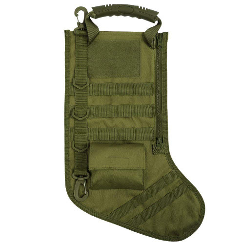 1 NEW TACTICAL OD GREEN CHRISTMAS STOCKING