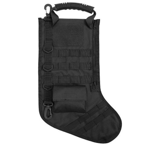 1 NEW TACTICAL BLACK CHRISTMAS STOCKING