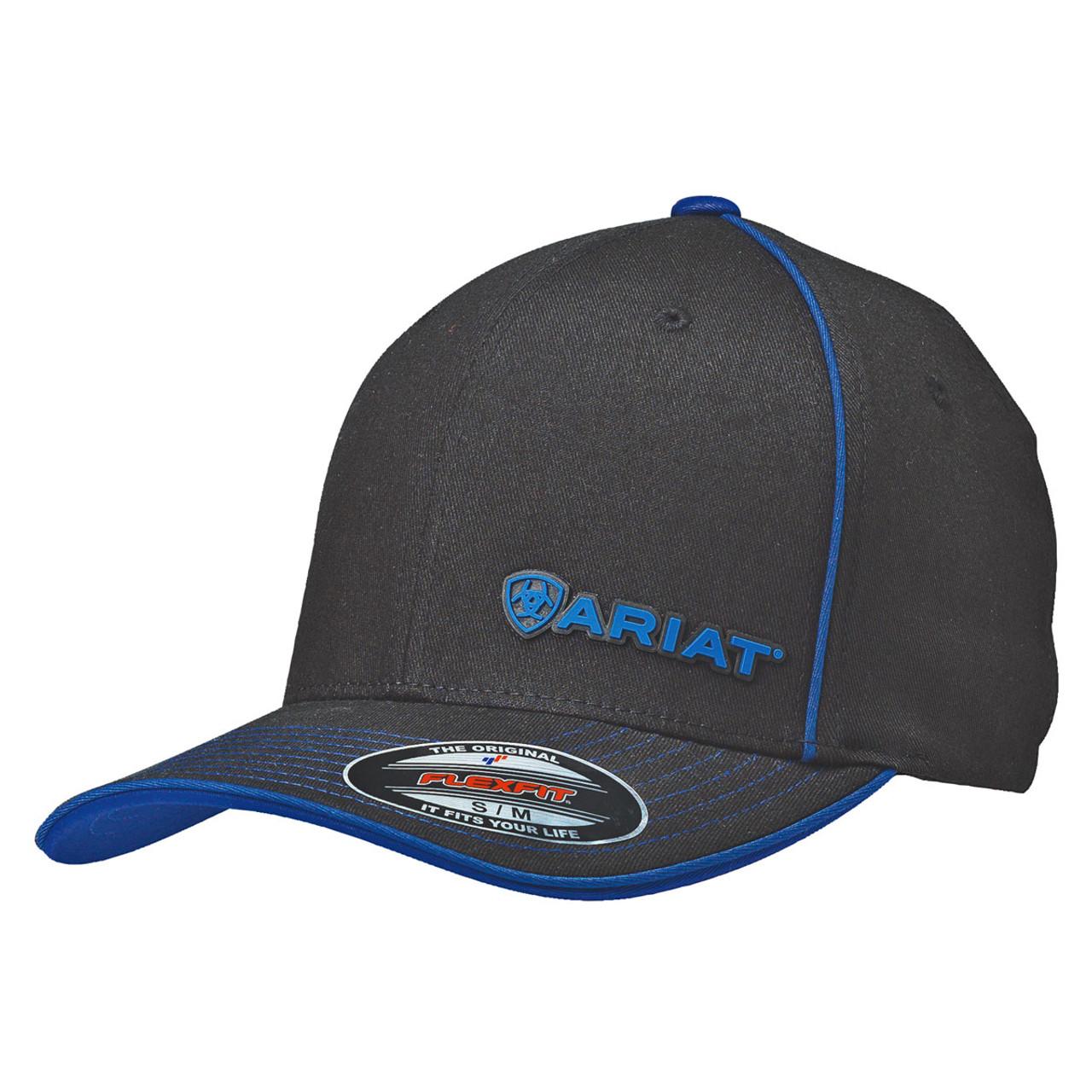59167ba335d8f Ariat Men s Black Flex Fit Ball Cap - Option Three Sixty