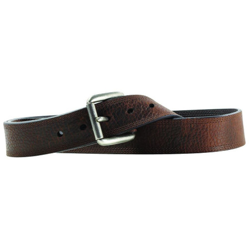 Men's Work Triple Stitch Brown Leather Belt