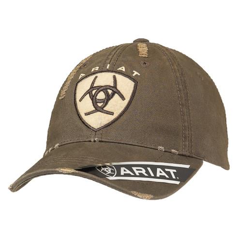 Men's Distressed Brown Ball Cap