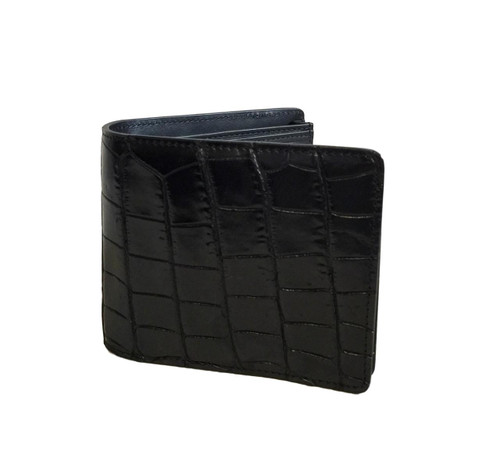 Men's Luxury Genuine Alligator Black Bifold Wallet