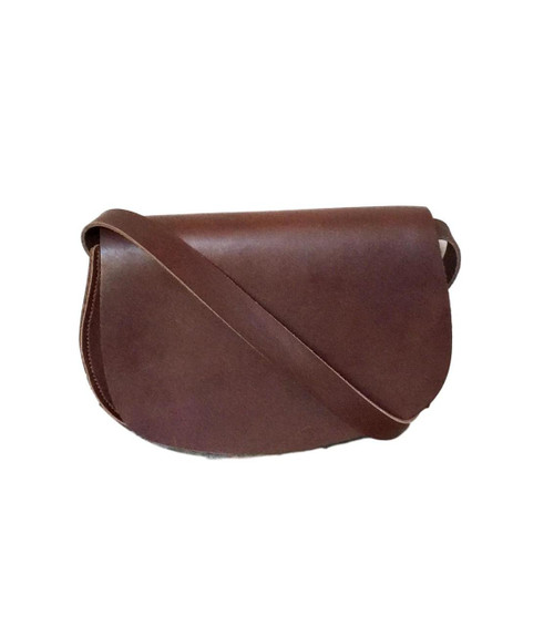Brown Half Moon Crossbody Bag
