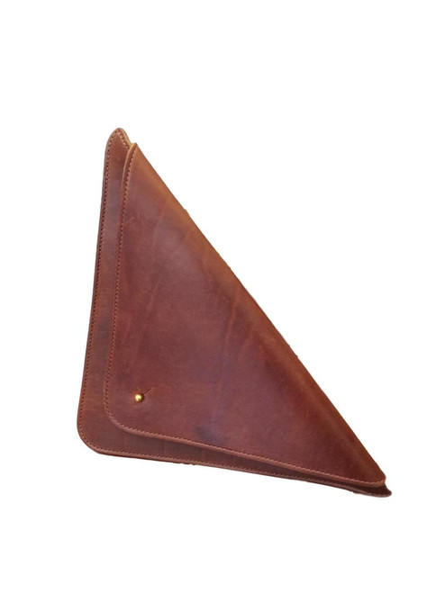 Brown Triangle Clutch