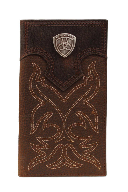 Men's Dark Brown Boot Stitch Rodeo Wallet