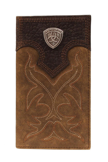 Men's Brown Boot Stitch Rodeo Wallet
