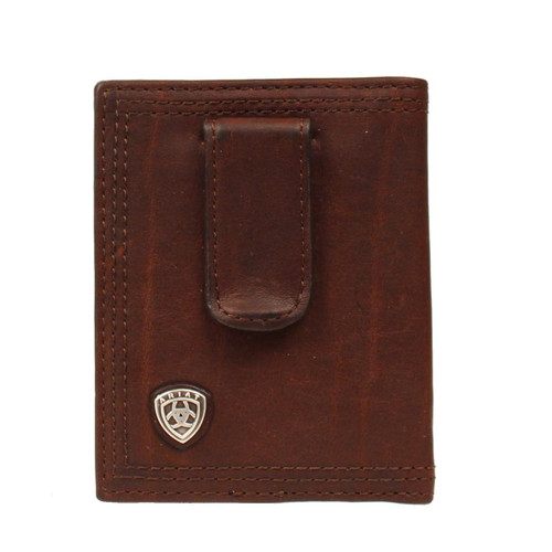 Men's Dark Copper Front Pocket Bifold Money Clip Wallet