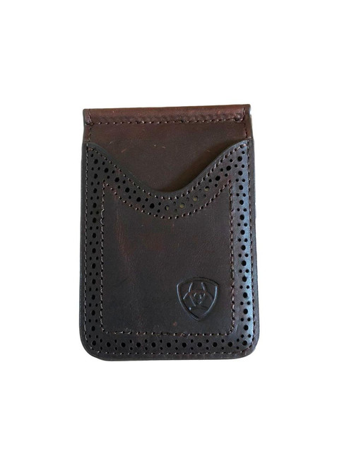 Men's Dark Copper Card Case Money Clip