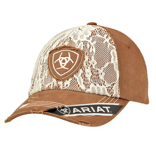 Women's Distressed Light Weight Lace Ball Cap