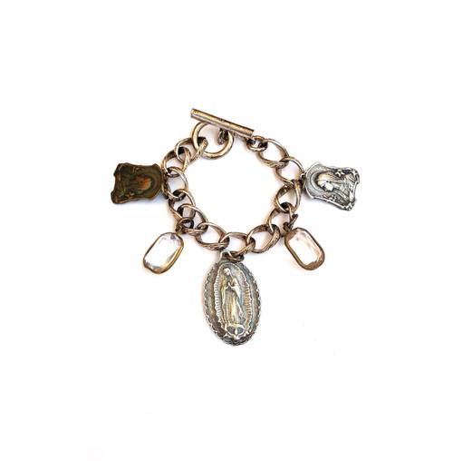 Silver Vintage Charm Bracelet