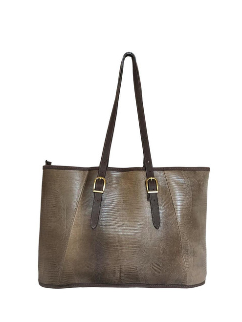 Teju Tan Embossed Leather Quintessential Tote