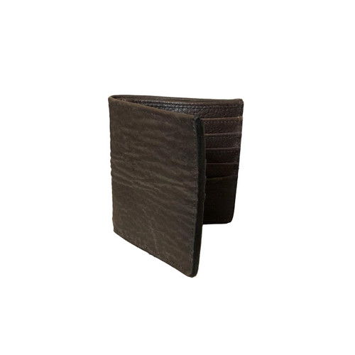 Men's Genuine Shark Brown Bifold Wallet