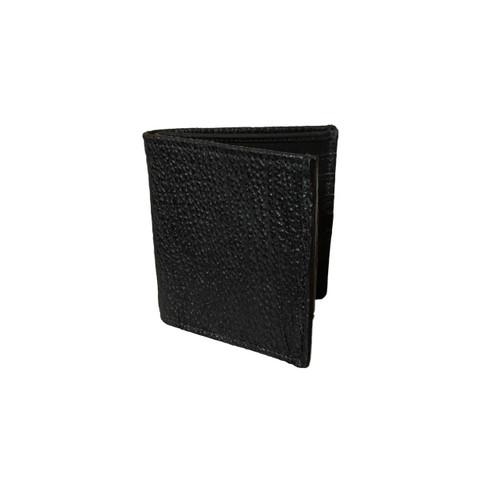 Men's Genuine Shark Black Bifold Wallet