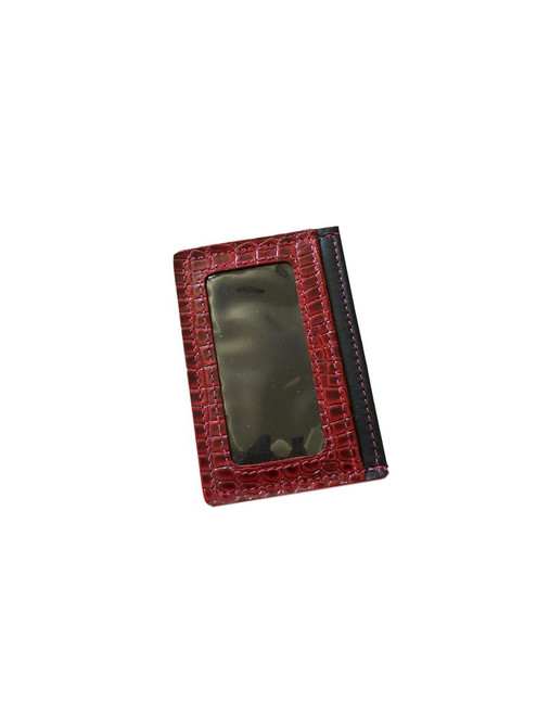 Red and Black Leather Credit Card Case