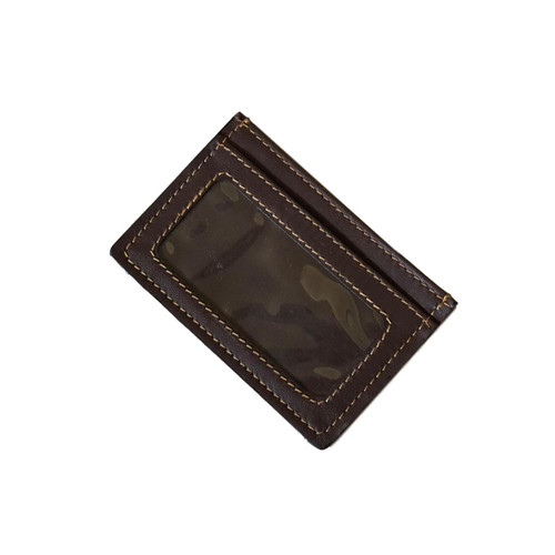 Dark Brown Leather Credit Card Case