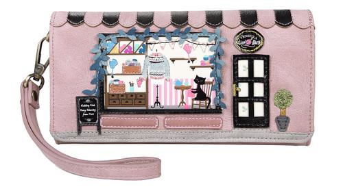 Wool Shop Flap Wallet Wristlet