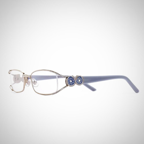 Women's Swarovski Crystal Grey and Silver Readers