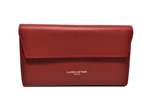 Camelia Large Red Flap Ziparound Wallet