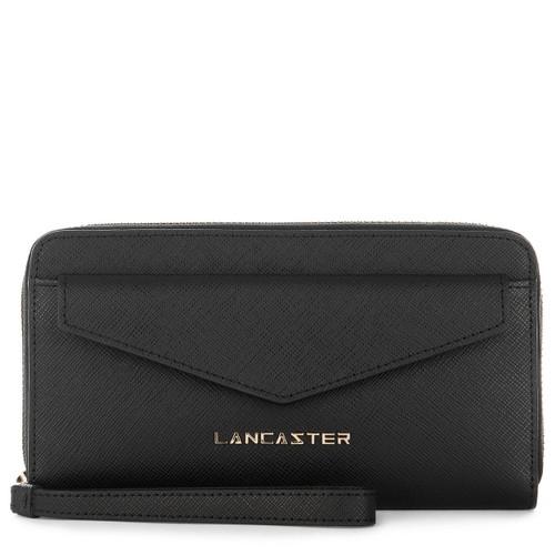 Adeline Large Black Ziparound Wallet Wristlet