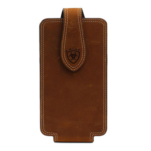 Large Brown Leather Cell Phone Case